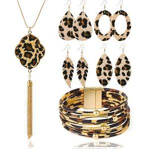 Leopard Print Jewelry Set